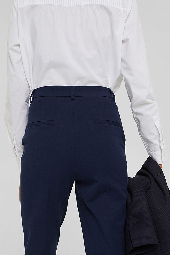 Cotton-blend stretch trousers, NAVY, detail image number 6