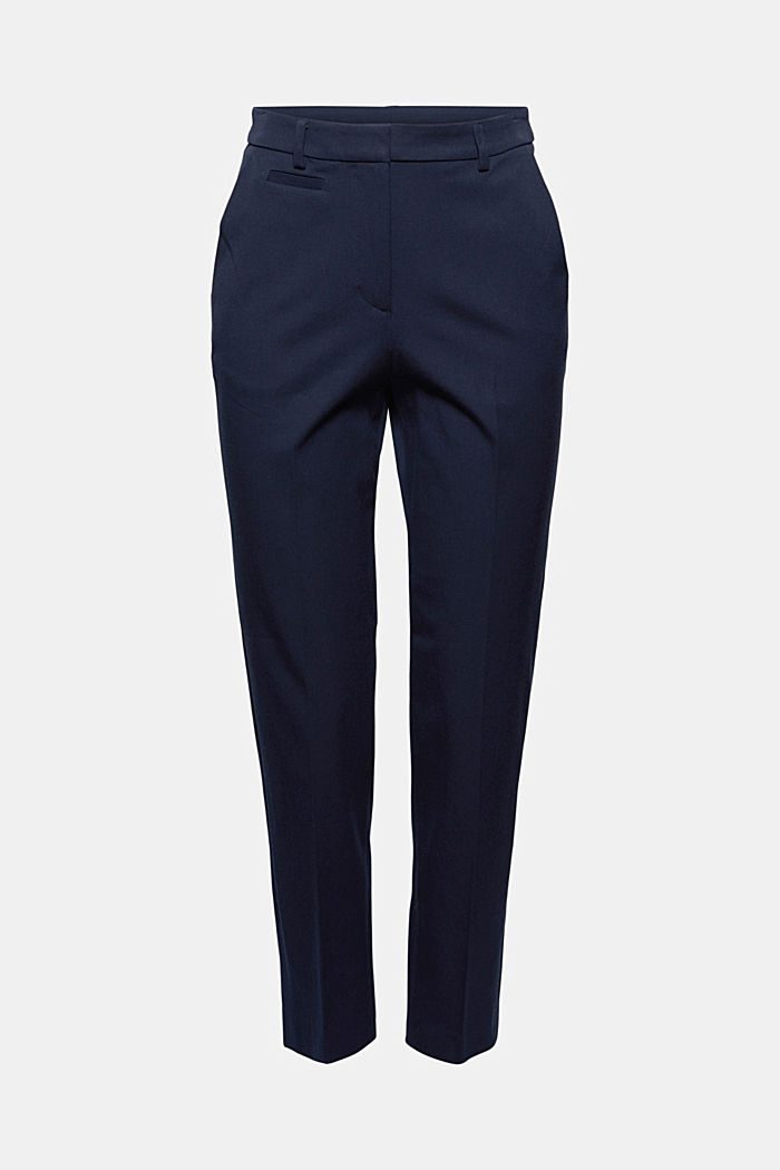 Cotton-blend stretch trousers