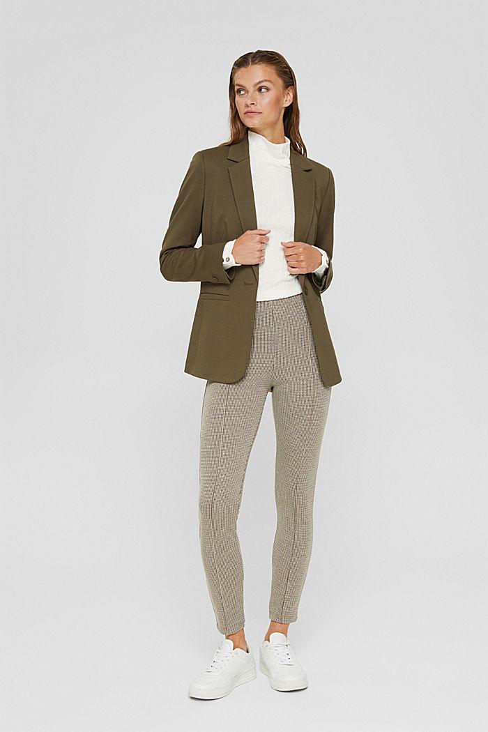 In materiale riciclato: leggings pied de poule in maglia, CAMEL, detail image number 1