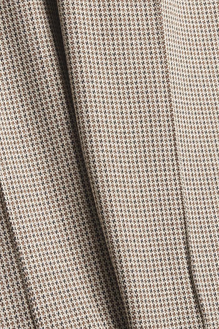 In materiale riciclato: leggings pied de poule in maglia, CAMEL, detail image number 4