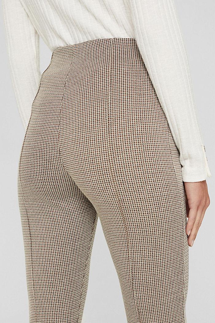 In materiale riciclato: leggings pied de poule in maglia, CAMEL, detail image number 5