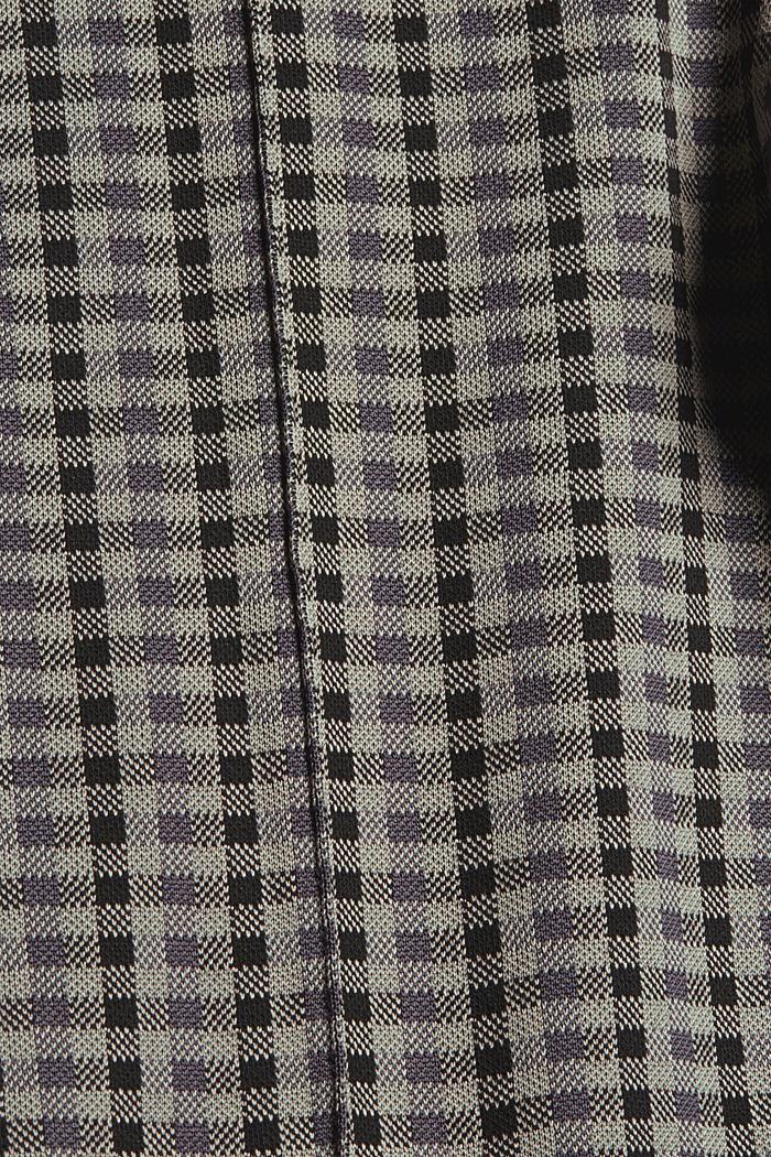 Check leggings, BLACK, detail image number 4