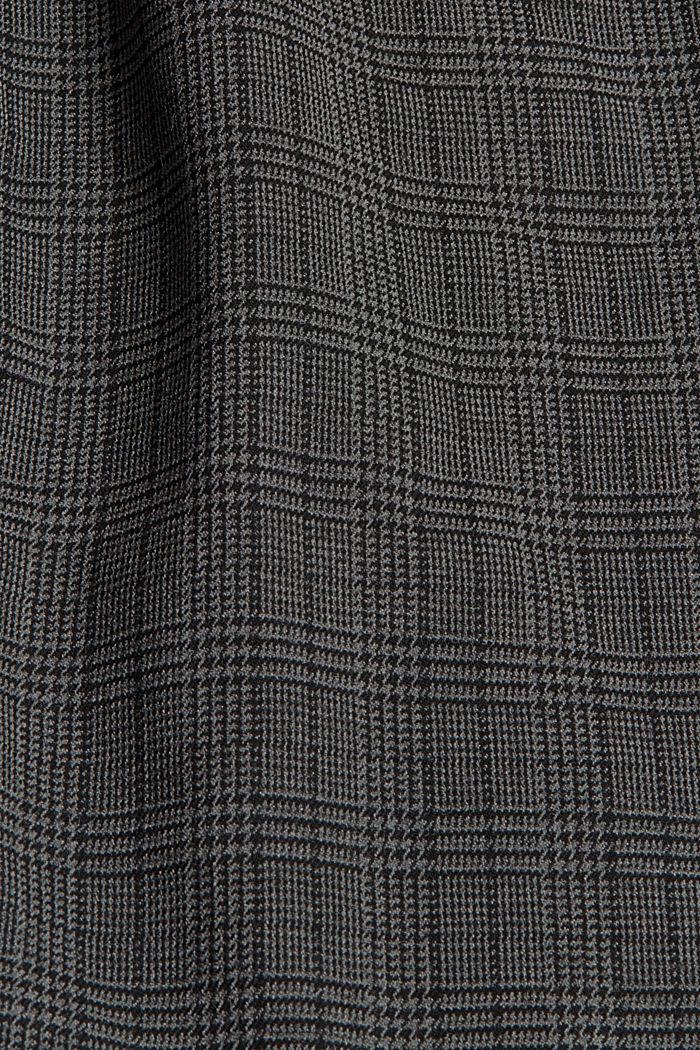 Cropped ruitjesbroek met elastische band, DARK GREY, detail image number 4