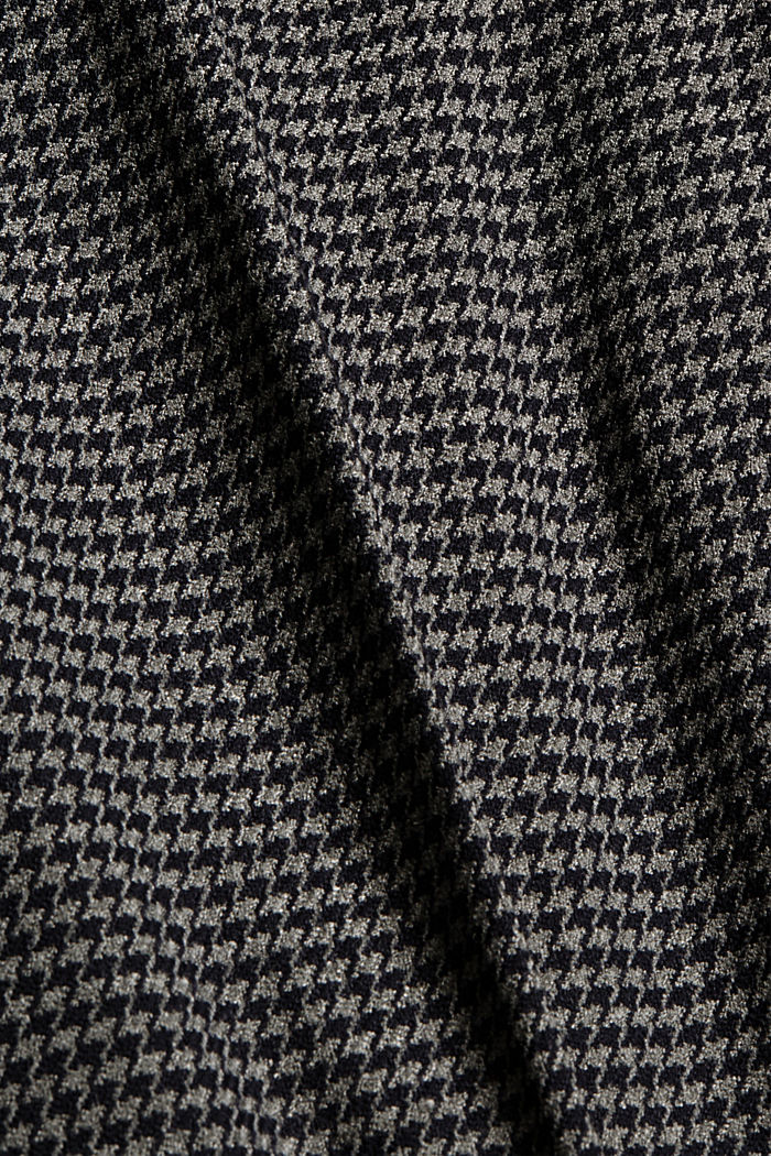 Recycled: patterned stretch trousers, DARK GREY, detail image number 4