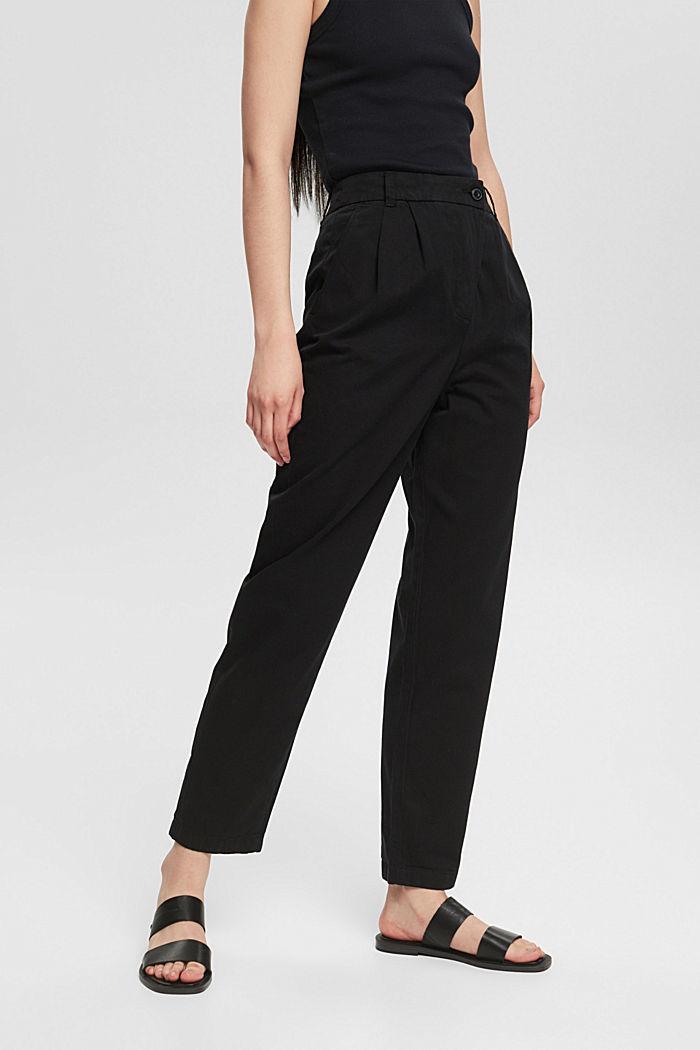 Pantalón chino con cintura alta, 100 % algodón Pima