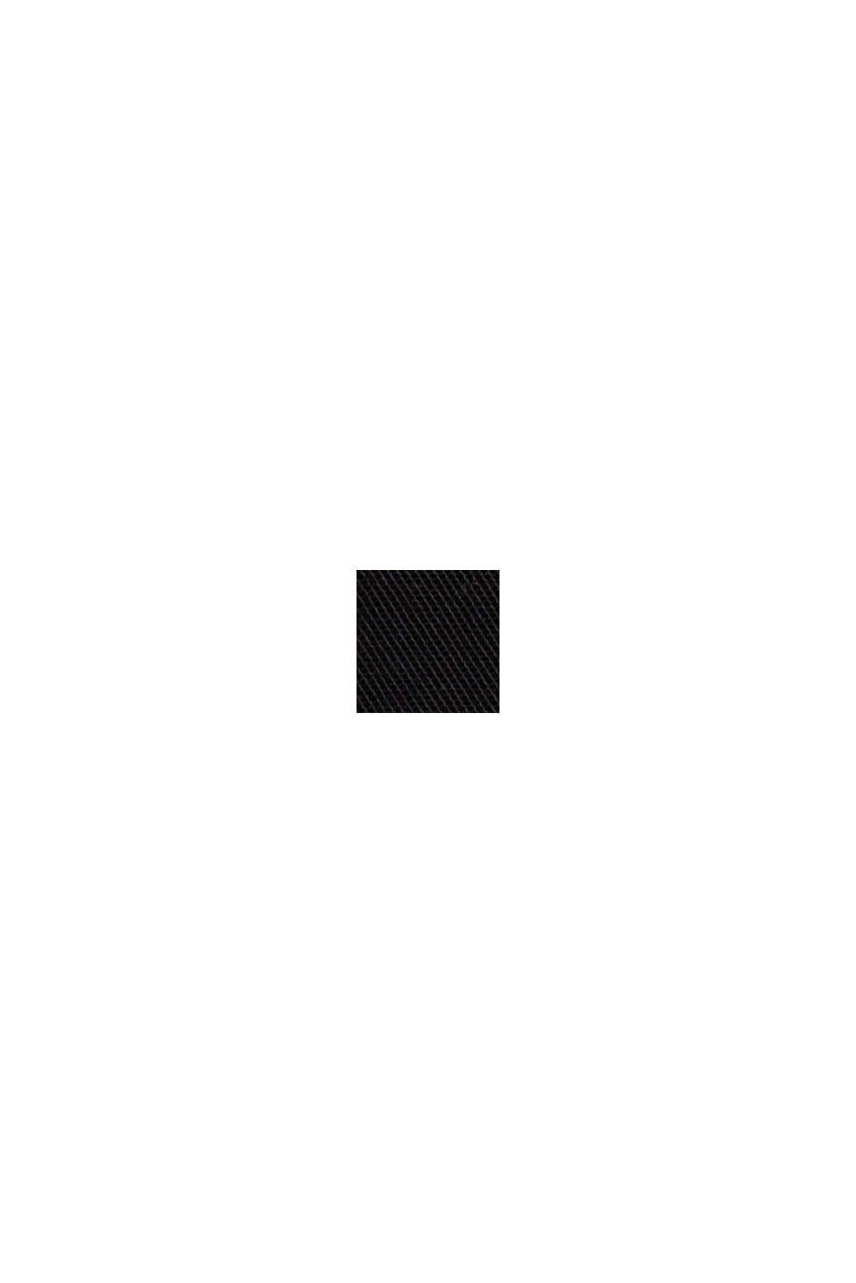Chino mit hohem Bund ,100% Pima Baumwolle, BLACK, swatch