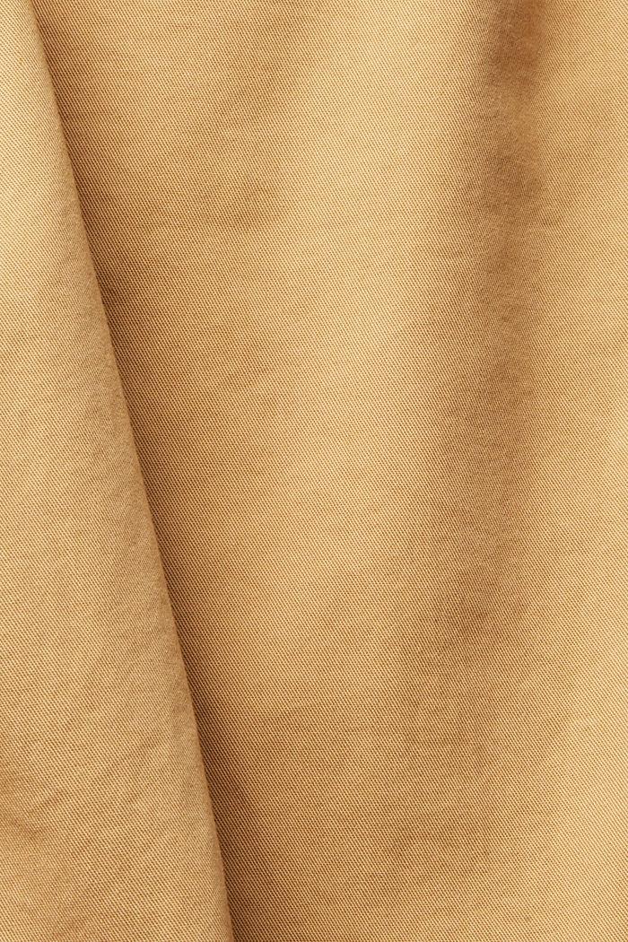 Pantalón chino con cintura alta, 100 % algodón Pima, KHAKI BEIGE, detail image number 4