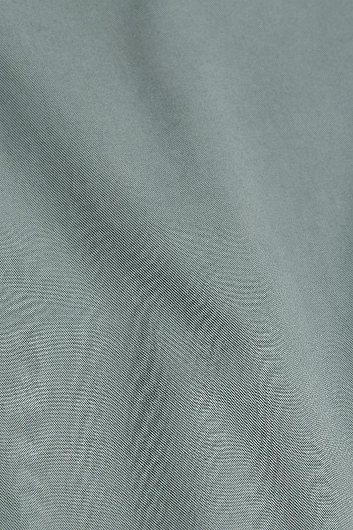 Chino con vita alta, 100% cotone Pima, DUSTY GREEN, detail image number 4
