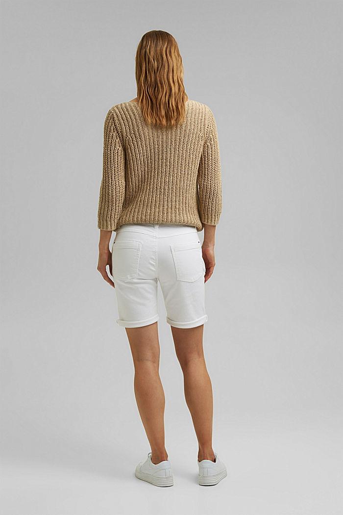 Shorts in Jogger-Qualität, WHITE, detail image number 3