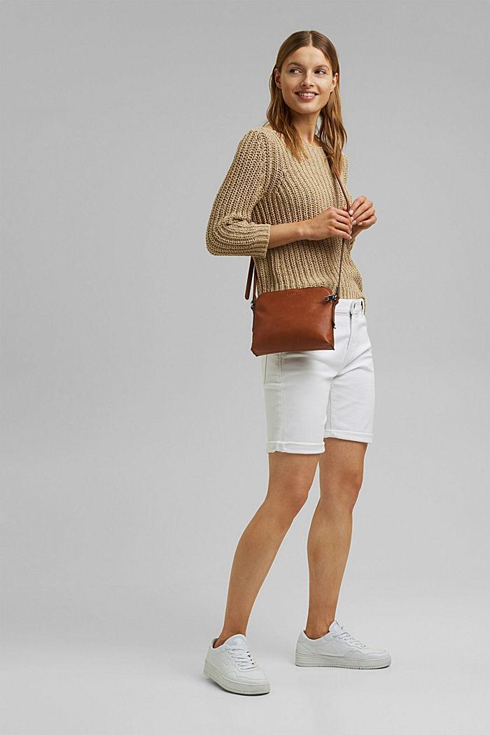 Shorts in Jogger-Qualität, WHITE, detail image number 1