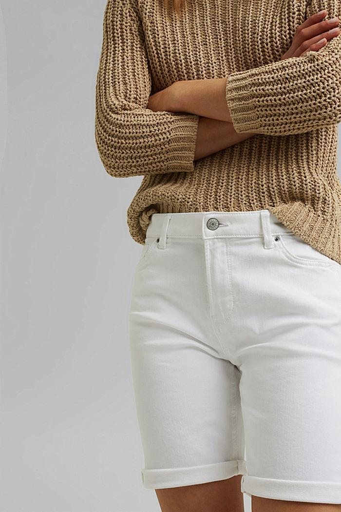 Shorts in Jogger-Qualität, WHITE, detail image number 2