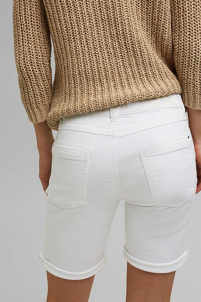 Shorts in Jogger-Qualität, WHITE, detail image number 5