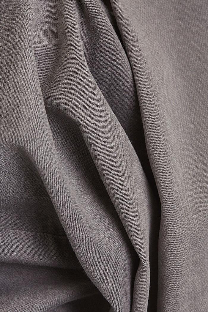Denim shorts in soft tracksuit material, GREY MEDIUM WASHED, detail image number 4