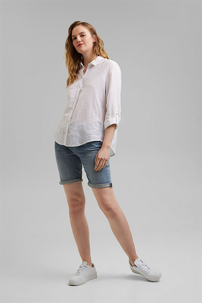 Jeans-Shorts in softer Jogger-Qualität, BLUE LIGHT WASHED, detail image number 6