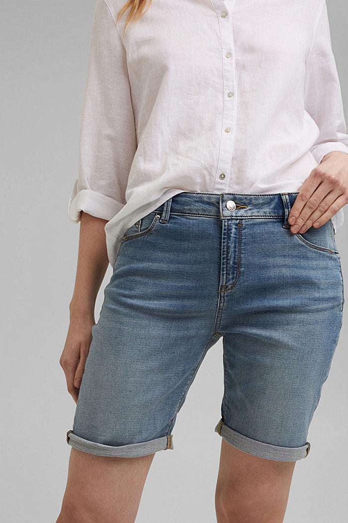 Jeans-Shorts in softer Jogger-Qualität, BLUE LIGHT WASHED, detail image number 2