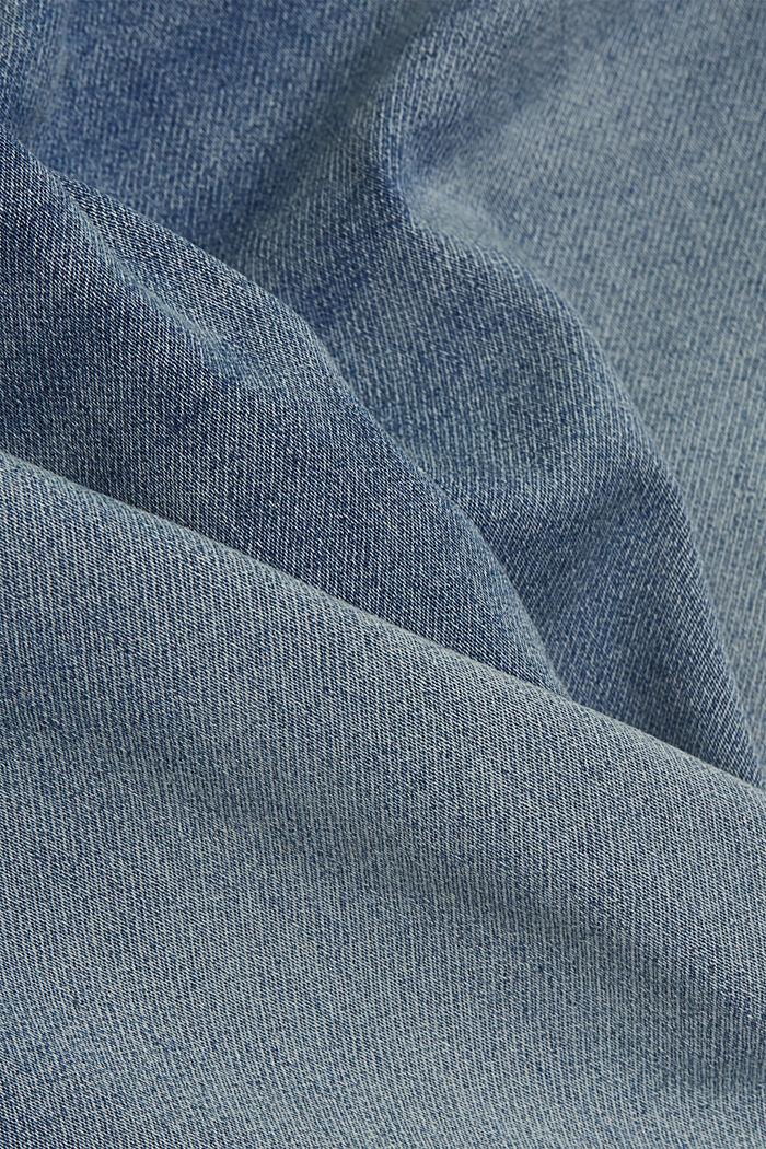 Jeans-Shorts in softer Jogger-Qualität, BLUE LIGHT WASHED, detail image number 4