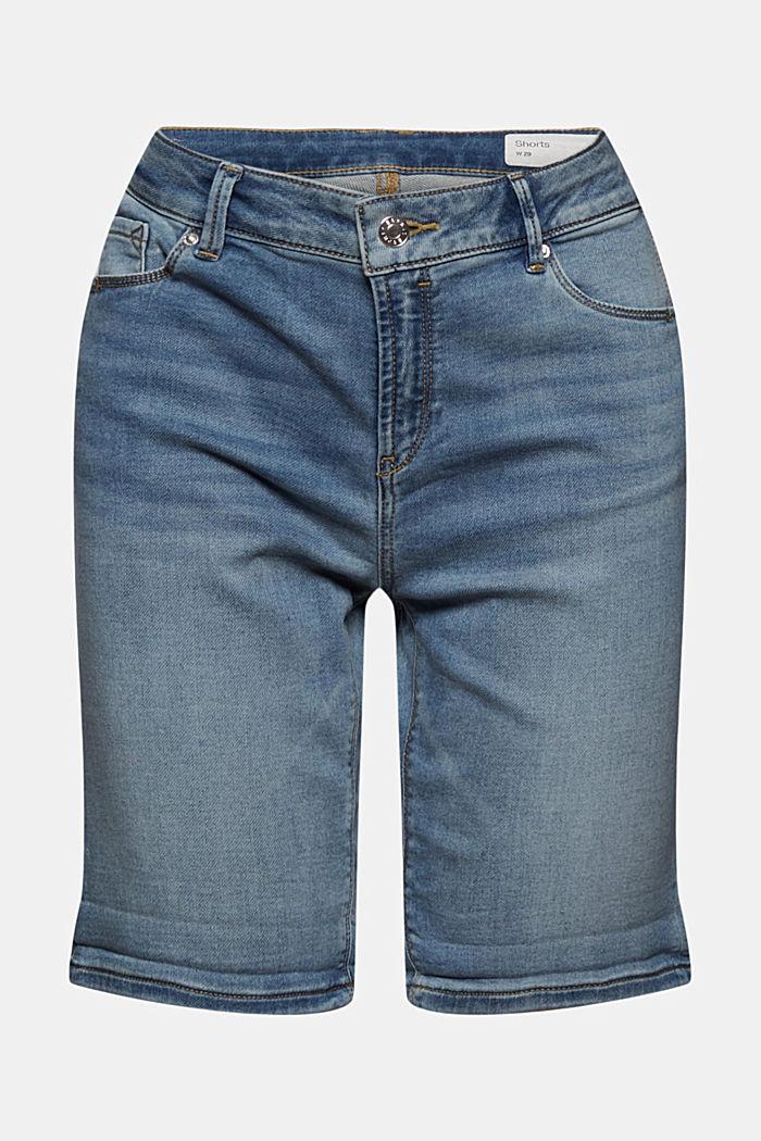 Short en jean en matière jogging douce