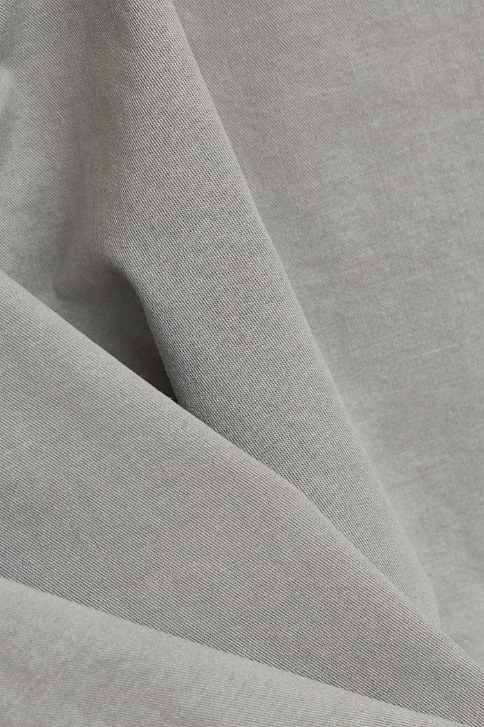 Mukana vyö: bermudat puuvillastretchiä, LIGHT GREY, detail image number 4