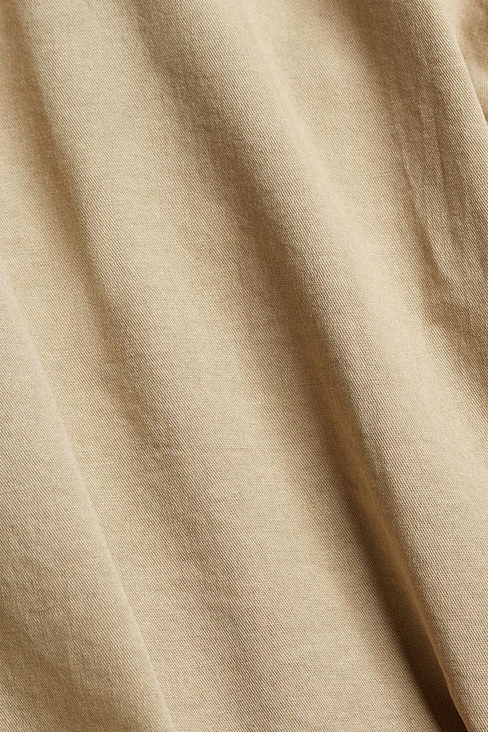 Mit Gürtel: Bermuda aus Baumwoll-Stretch, BEIGE, detail image number 4