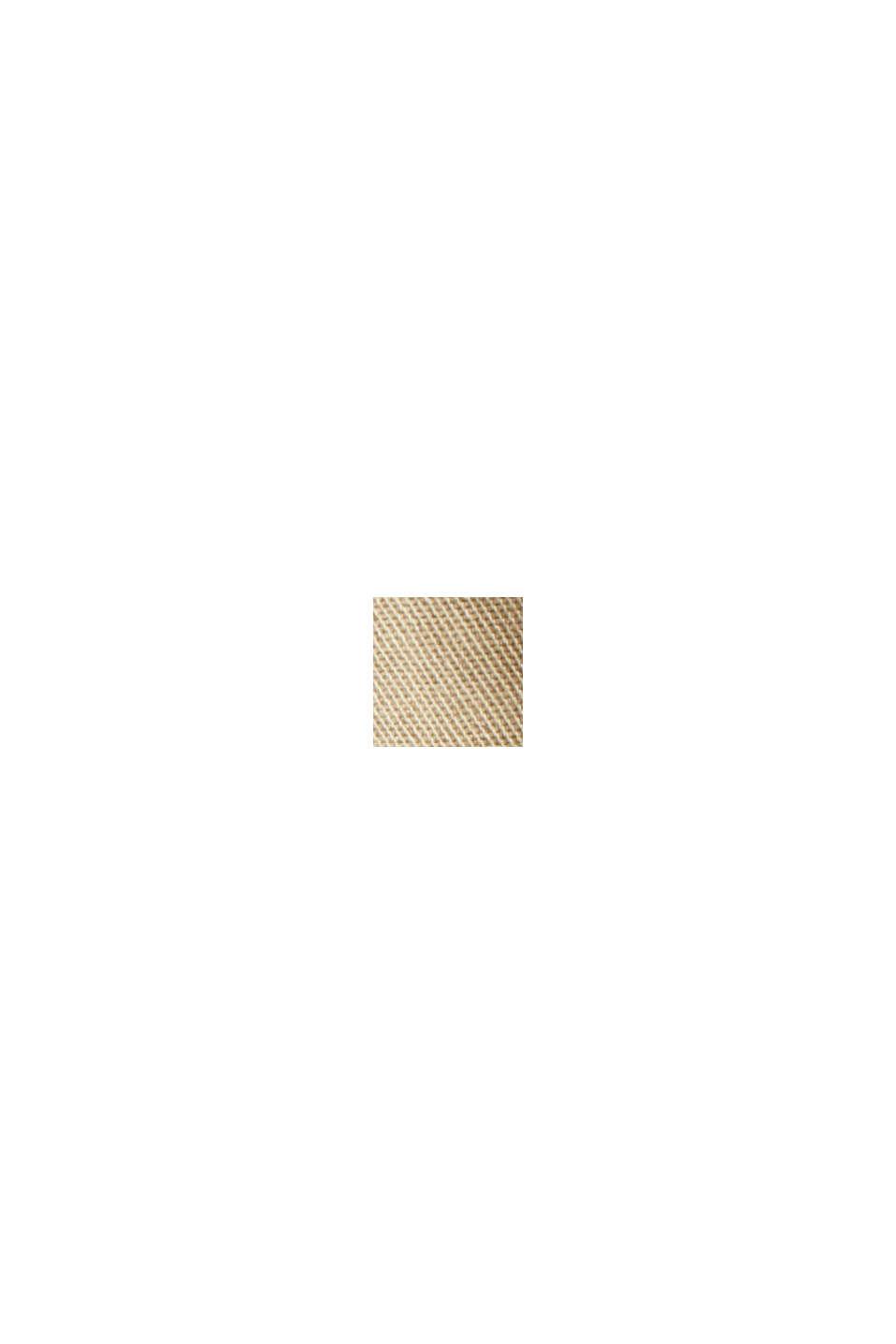 Med bælte: bermudashorts i bomuldsstretch, BEIGE, swatch