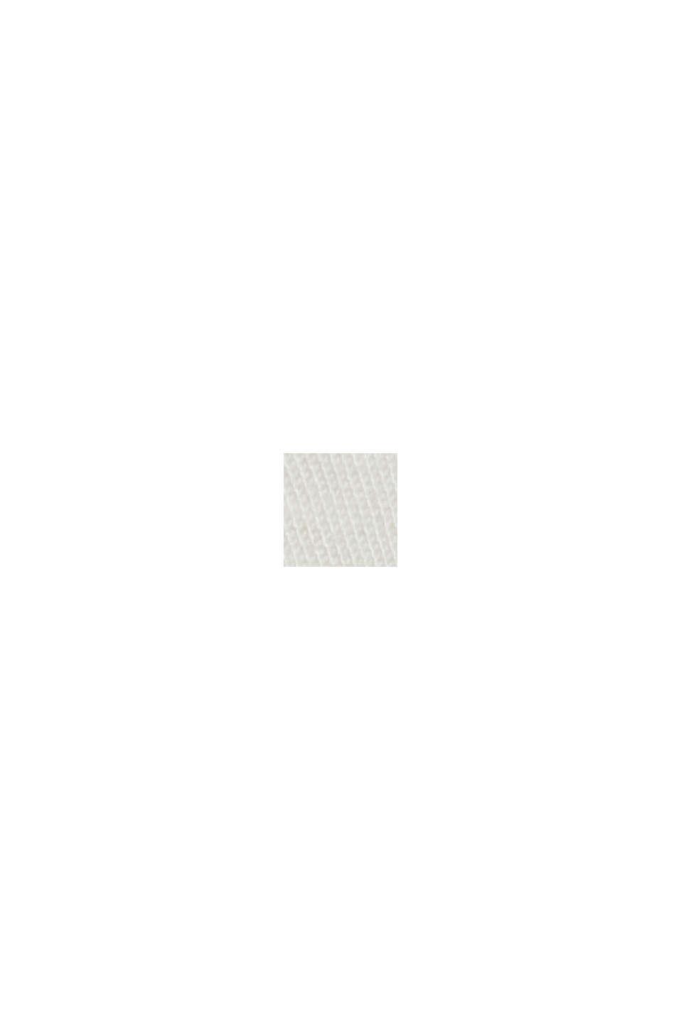 Med bælte: bermudashorts i bomuldsstretch, OFF WHITE, swatch
