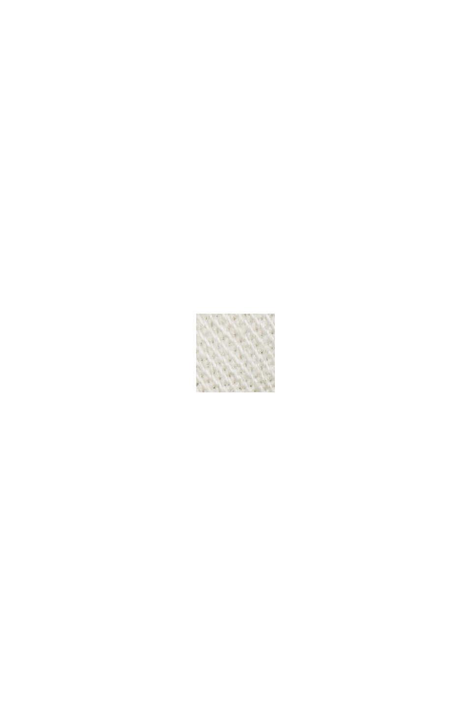 Med bælte: bermudashorts i bomuldsstretch, OFF WHITE COLORWAY, swatch