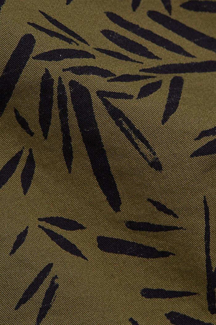 Mit Gürtel: Bermuda aus Baumwoll-Stretch, KHAKI GREEN, detail image number 4