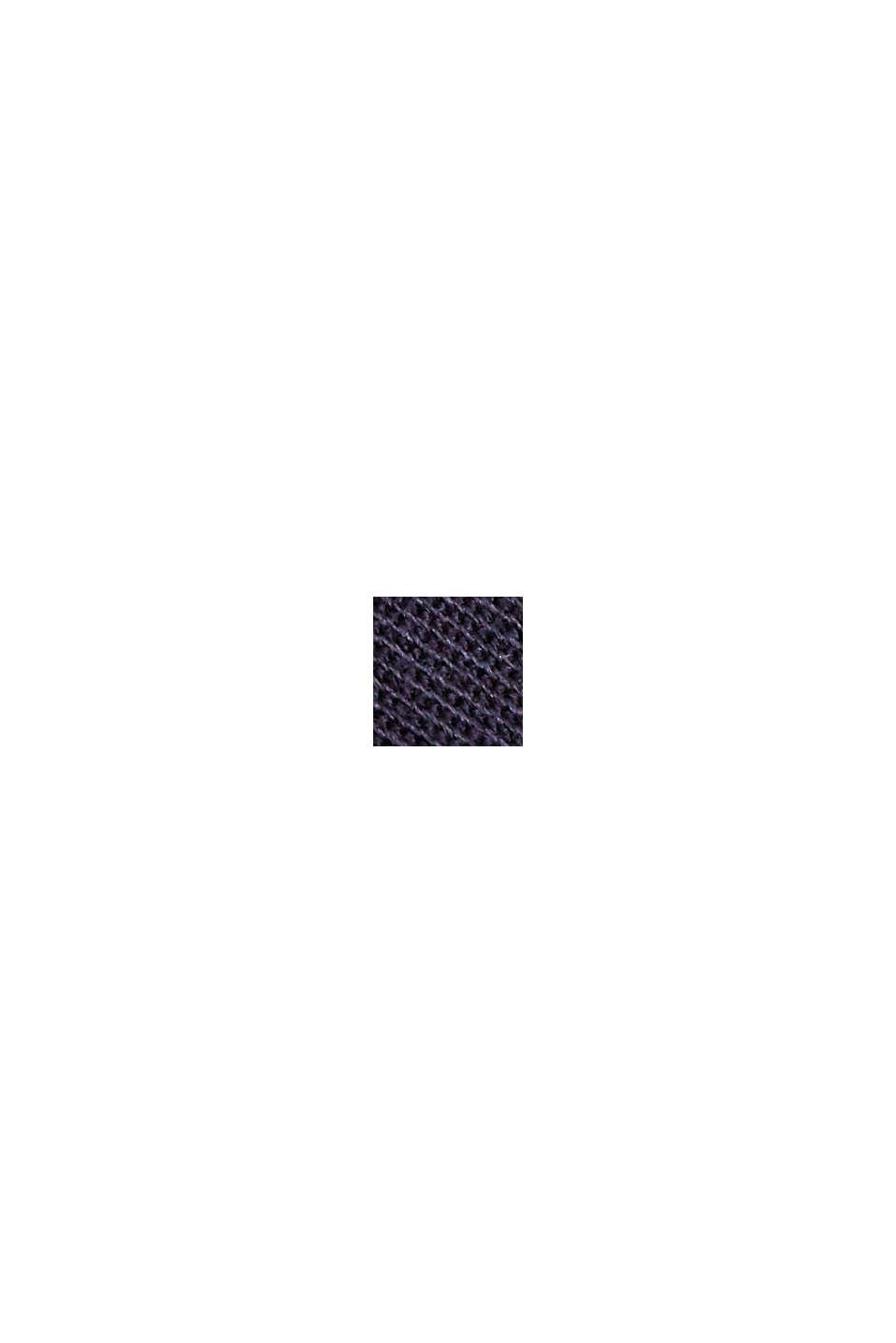 Med bælte: bermudashorts i bomuldsstretch, NAVY, swatch