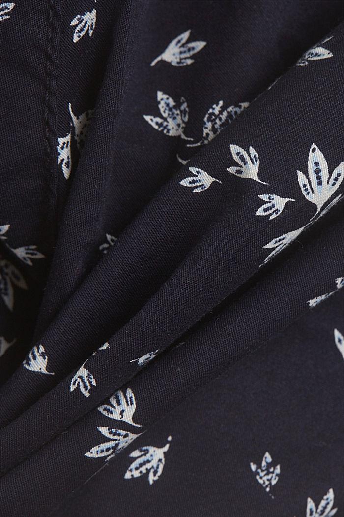 Con cinturón: bermudas de algodón elástico, NEW NAVY, detail image number 4