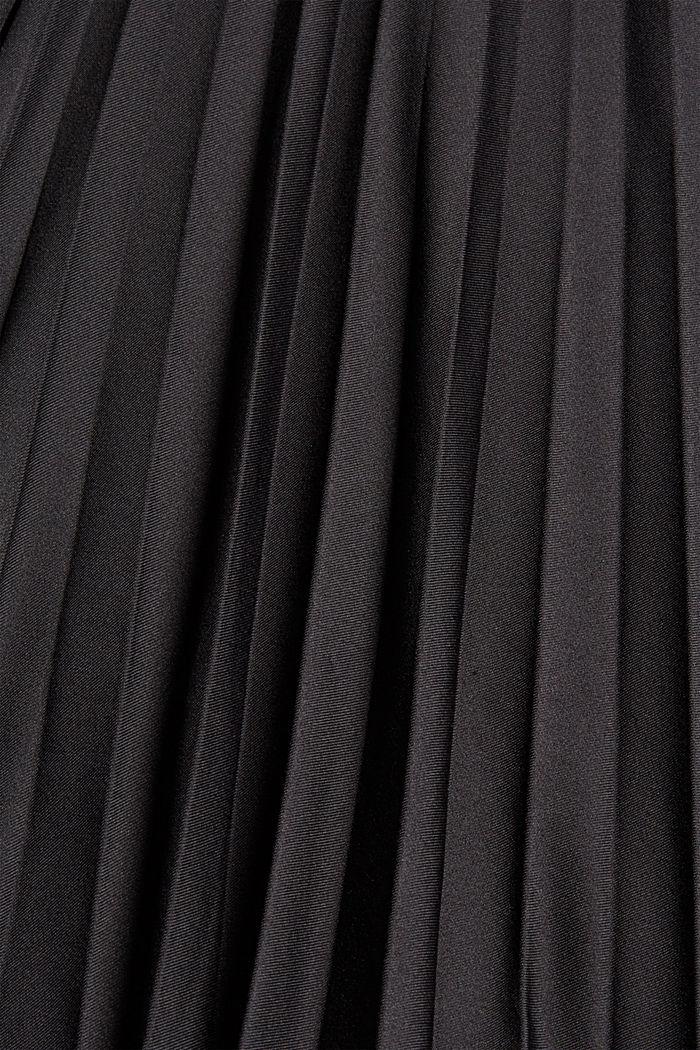 Plooirok met elastische band, BLACK, detail image number 4