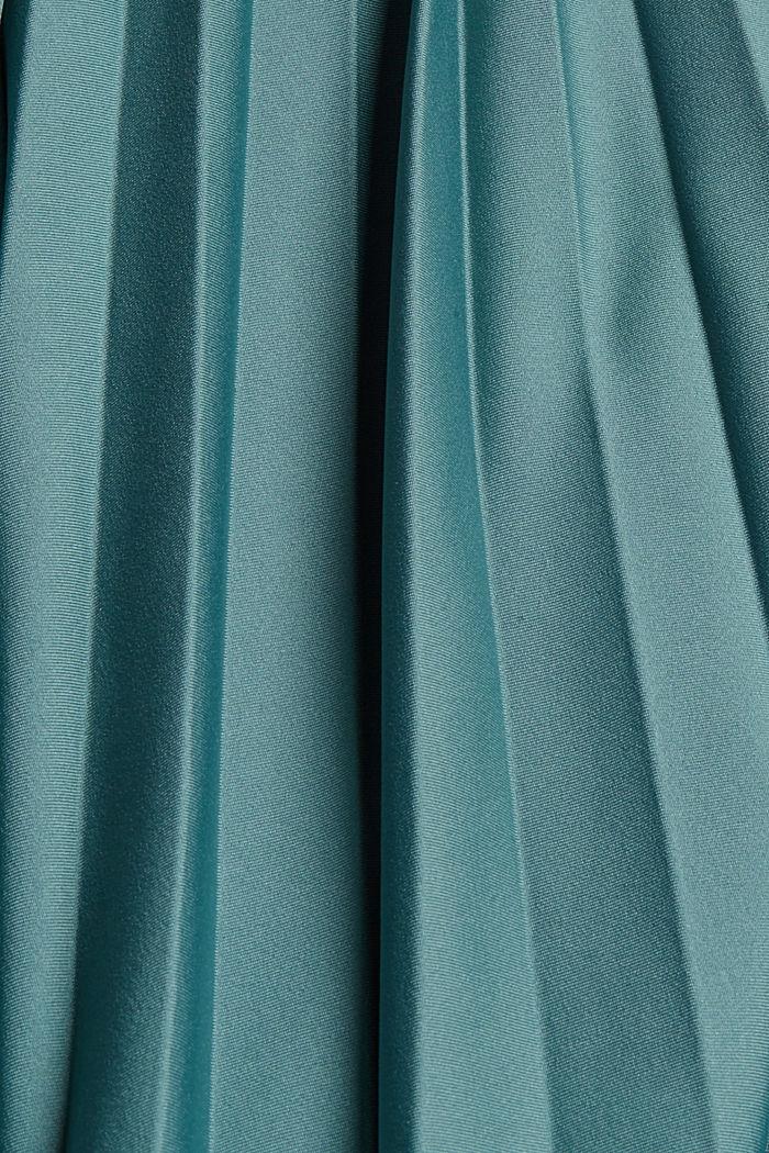 Plisseerock mit Gummibund, TEAL BLUE, detail image number 4