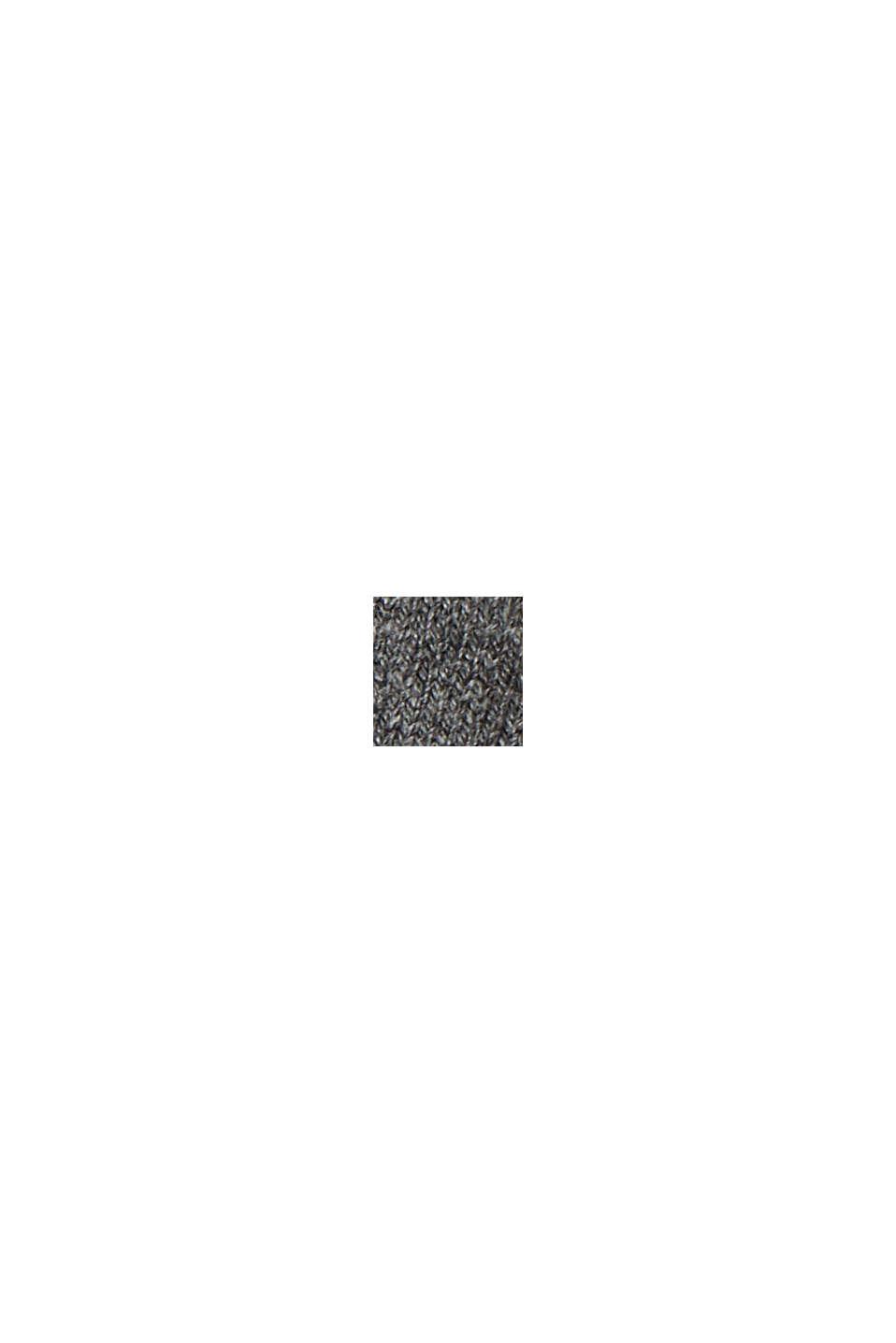 Basic Strickkleid aus Bio-Baumwoll-Mix, GUNMETAL, swatch