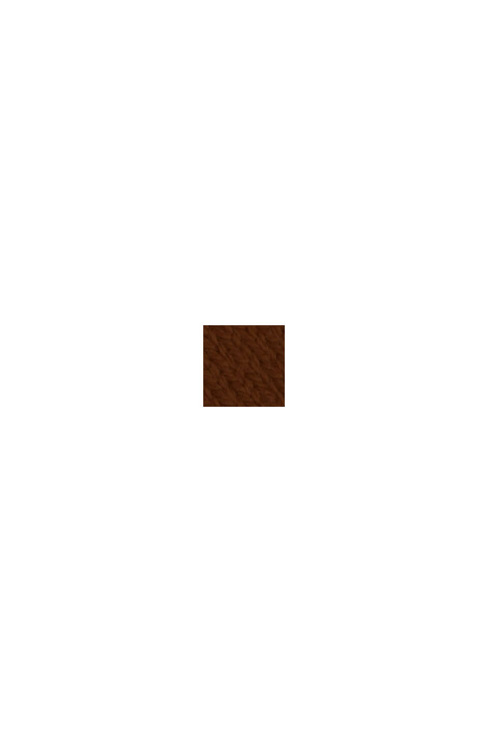 Basic Strickkleid aus Bio-Baumwoll-Mix, TOFFEE, swatch