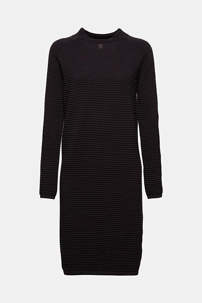 Rippstrick-Kleid, 100% Bio-Baumwolle