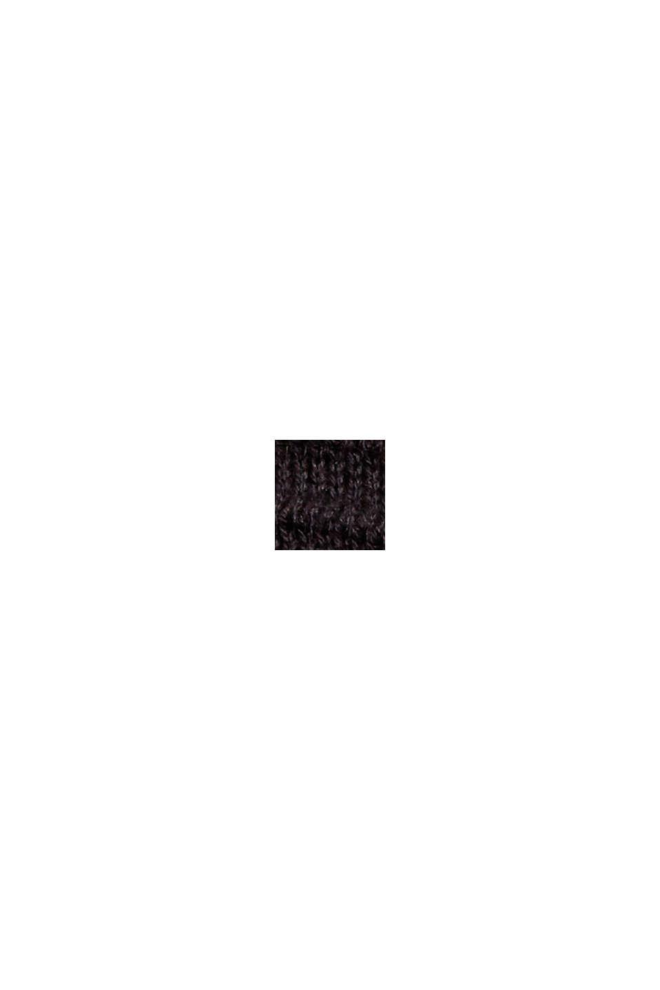 Rippstrick-Kleid, 100% Bio-Baumwolle, BLACK, swatch