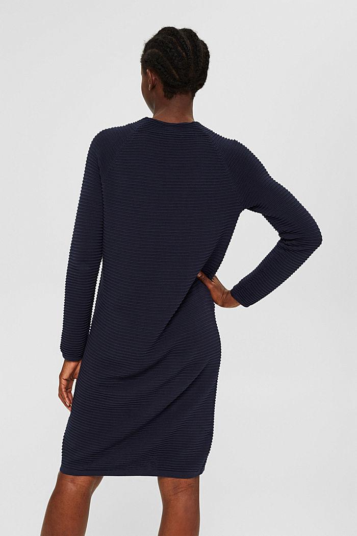 Robe-pull côtelée, 100% coton biologique, NAVY, detail image number 2
