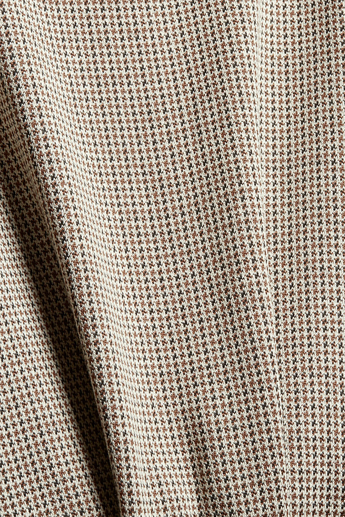Recycled: jersey dress with a houndstooth pattern, CAMEL, detail image number 4