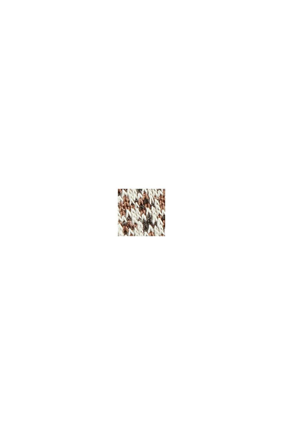 Recycelt: Jerseykleid mit Hahnentritt-Muster, CAMEL, swatch