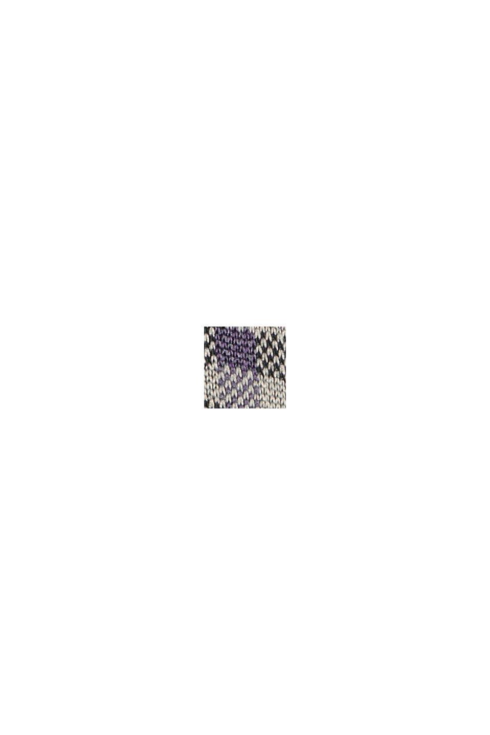 Recycelt: Jerseykleid mit Karomuster, BLACK, swatch