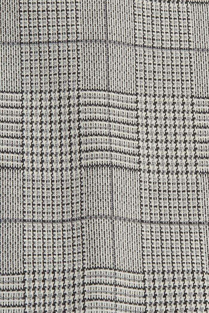 Jerseymekko glencheck-ruutukuviolla, GREY, detail image number 4