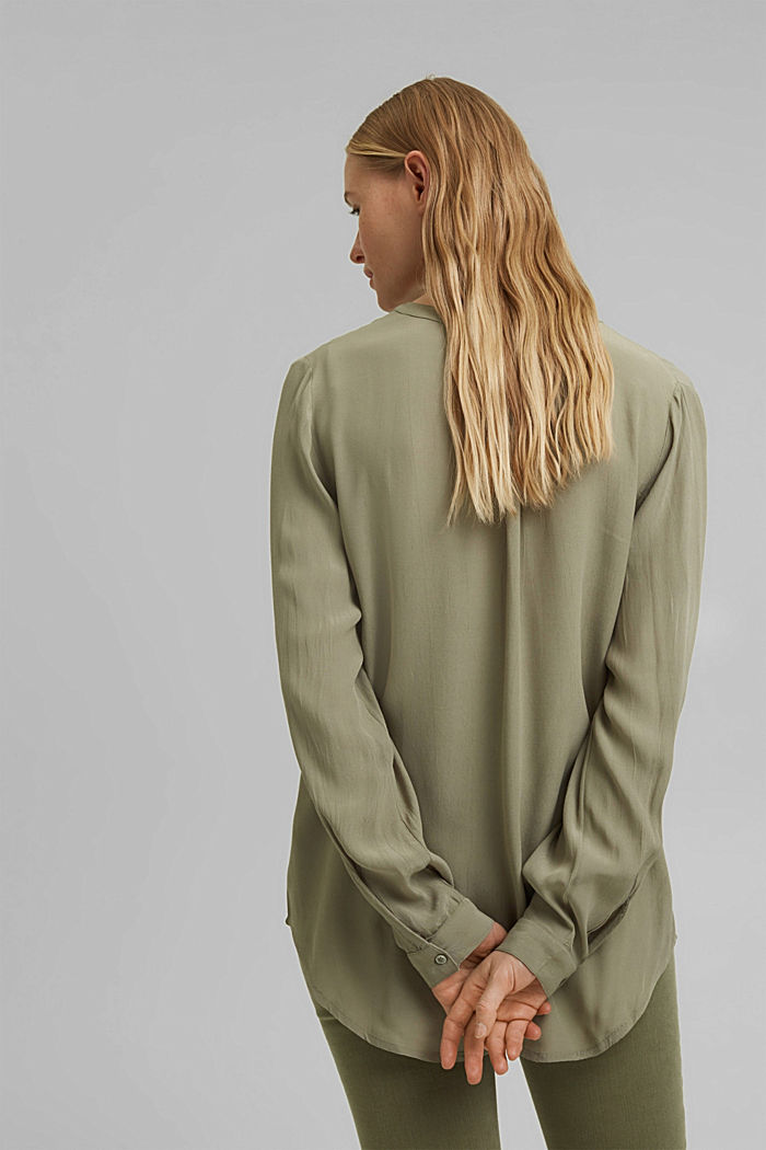 Blouse made of LENZING™ ECOVERO™ viscose, LIGHT KHAKI, detail image number 3