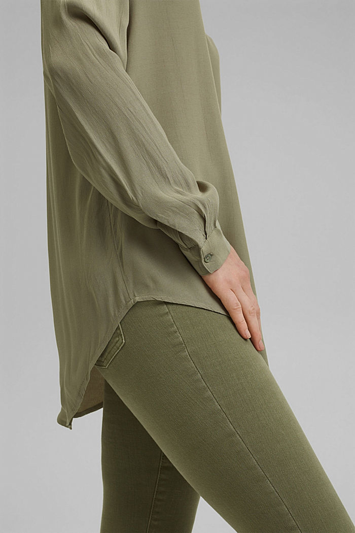 Blouse made of LENZING™ ECOVERO™ viscose, LIGHT KHAKI, detail image number 2