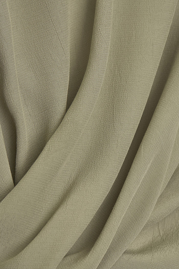 Blouse made of LENZING™ ECOVERO™ viscose, LIGHT KHAKI, detail image number 4