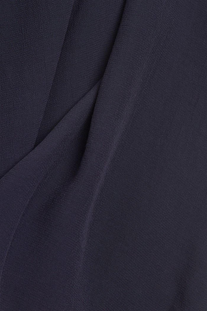 Blouse made of LENZING™ ECOVERO™ viscose, NAVY, detail image number 4