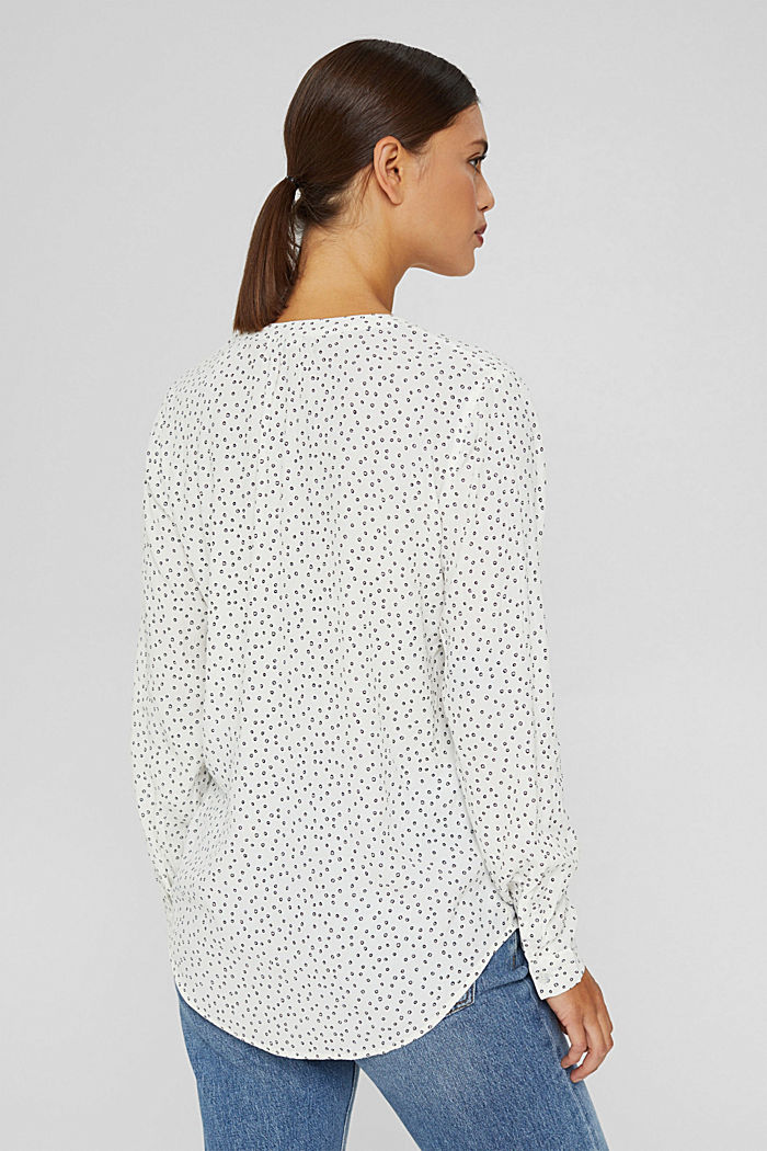 Blusa in viscosa LENZING™ ECOVERO™, NEW OFF WHITE, detail image number 3