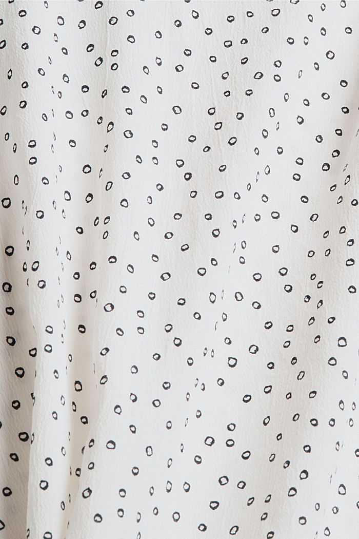 Blusa in viscosa LENZING™ ECOVERO™, NEW OFF WHITE, detail image number 4