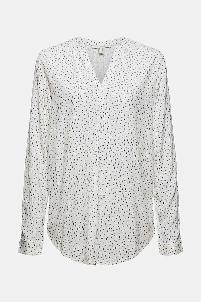 Blusa in viscosa LENZING™ ECOVERO™, NEW OFF WHITE, detail image number 6