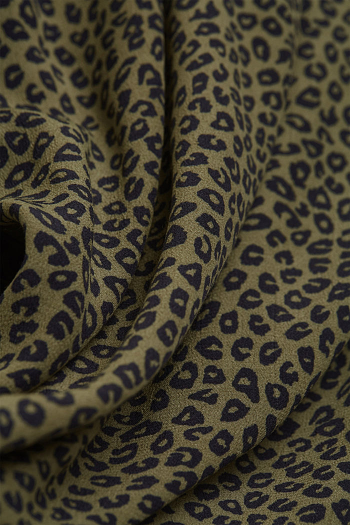 Blouse made of LENZING™ ECOVERO™ viscose, KHAKI GREEN, detail image number 4