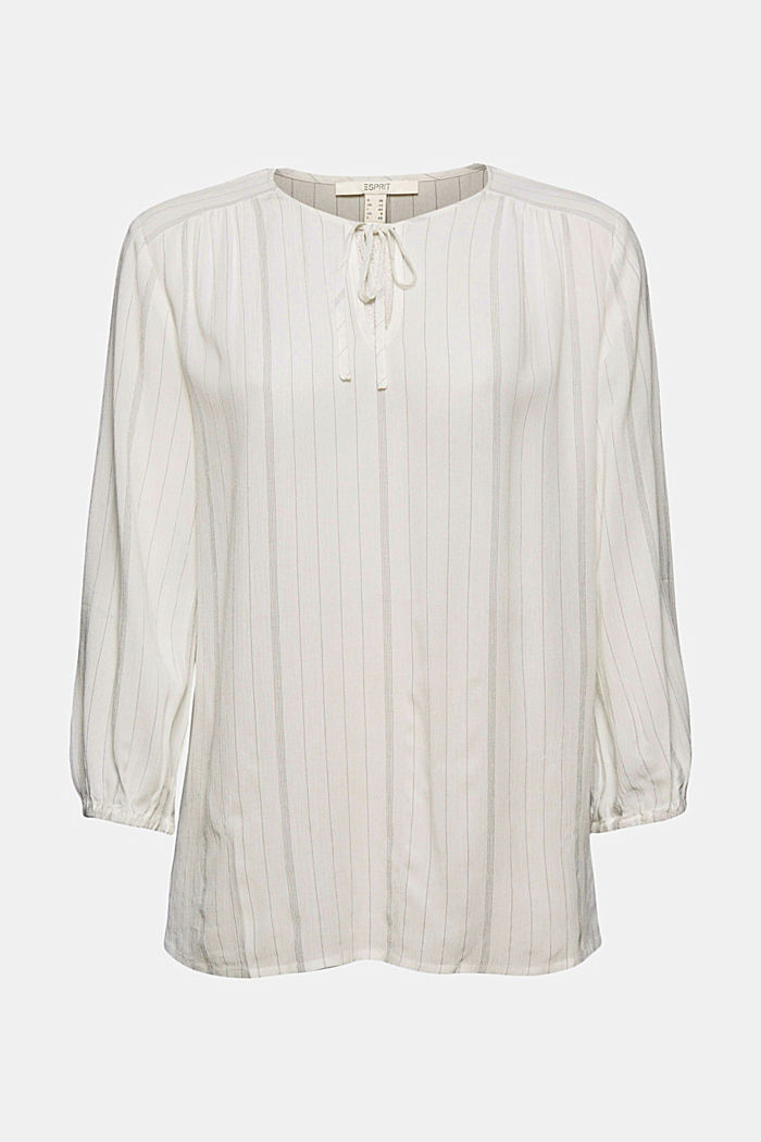 Blusa a righe stile tunica, OFF WHITE, detail image number 6