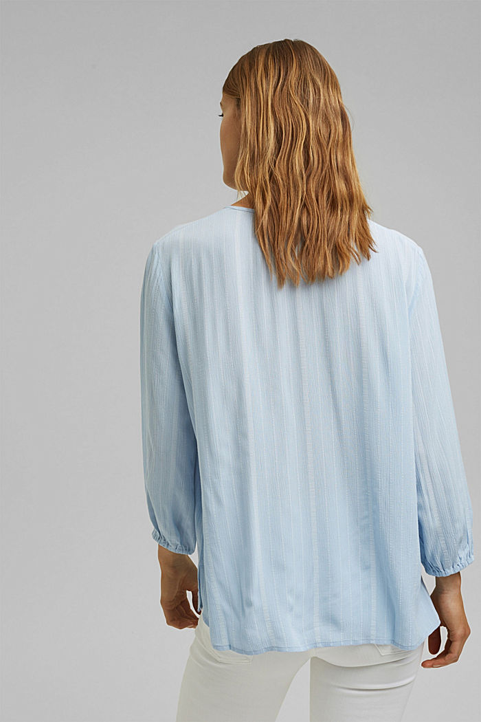 Striped tunic-style blouse, LIGHT BLUE, detail image number 3